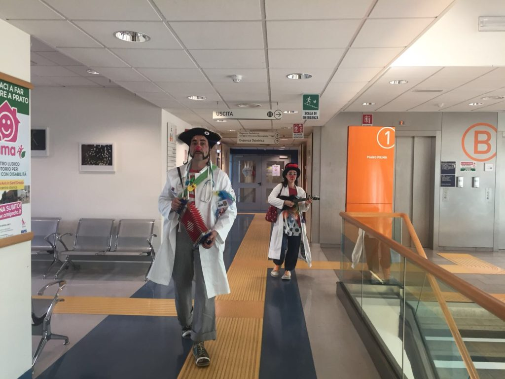 Clown in Pediatria all'Ospedale Santo Stefano di Prato